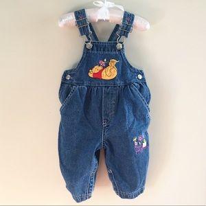 Vintage Winnie the Pooh Denim Overalls 6-9 Months